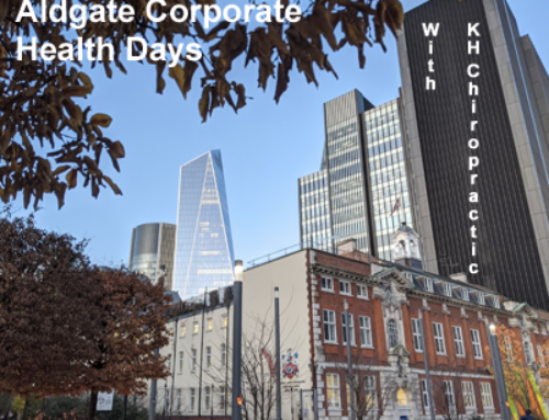 We work with local Aldgate Corporates to help prevent office related pain in the workplace