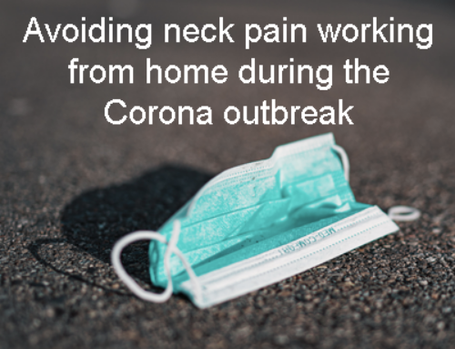 Avoiding neck pain when working from home during the CORONA outbreak